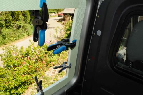 … Isolierung und Fensterleibung gefertigt und eingeklebt