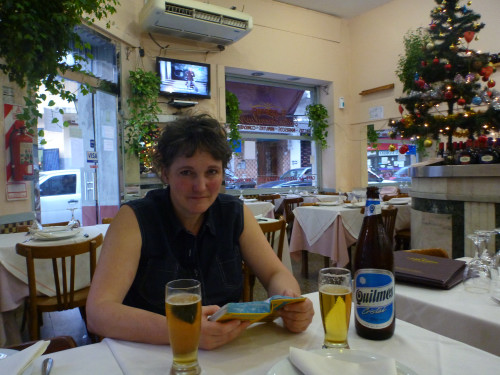 …Restaurant 'El Chortijo' mit leckerem Quilmes-Bier