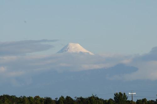 …Vulkan Osorno zeigt seinen Kopf